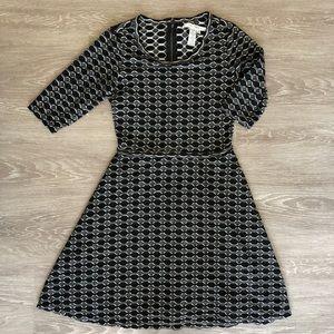 Max Studio Textured Knit 3/4 Sleeve Dress